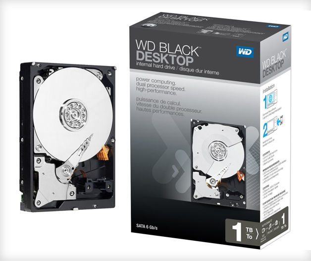 HDD - WD Caviar Black 1TB 64MB Cache 7 SATA 3 - P3,890-3V