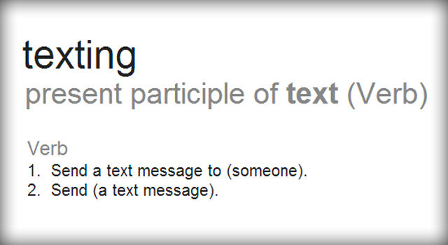 Texting as an official word-6VB