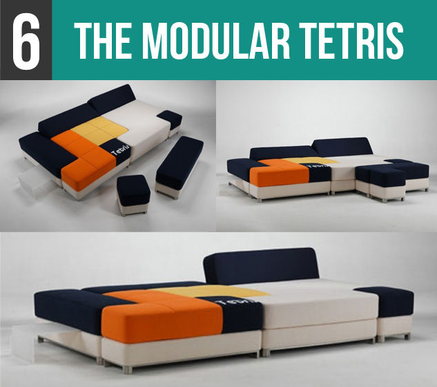 The Modular Tetris Couch-6V