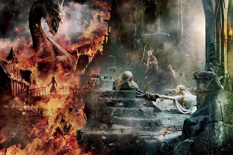HBOFA-Smaug-Gandalf-Elrond-Galadriel