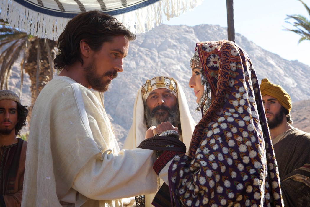christian bale and maria valverde EXODUS GODS AND KINGS